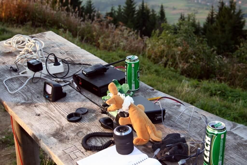 Ryjek na Luboniu po instalacji pierwszych anten