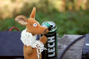 Piwo po pracy na Luboniu Wielkim
