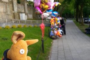 Baloniki na odpuście w Łagiewnikach