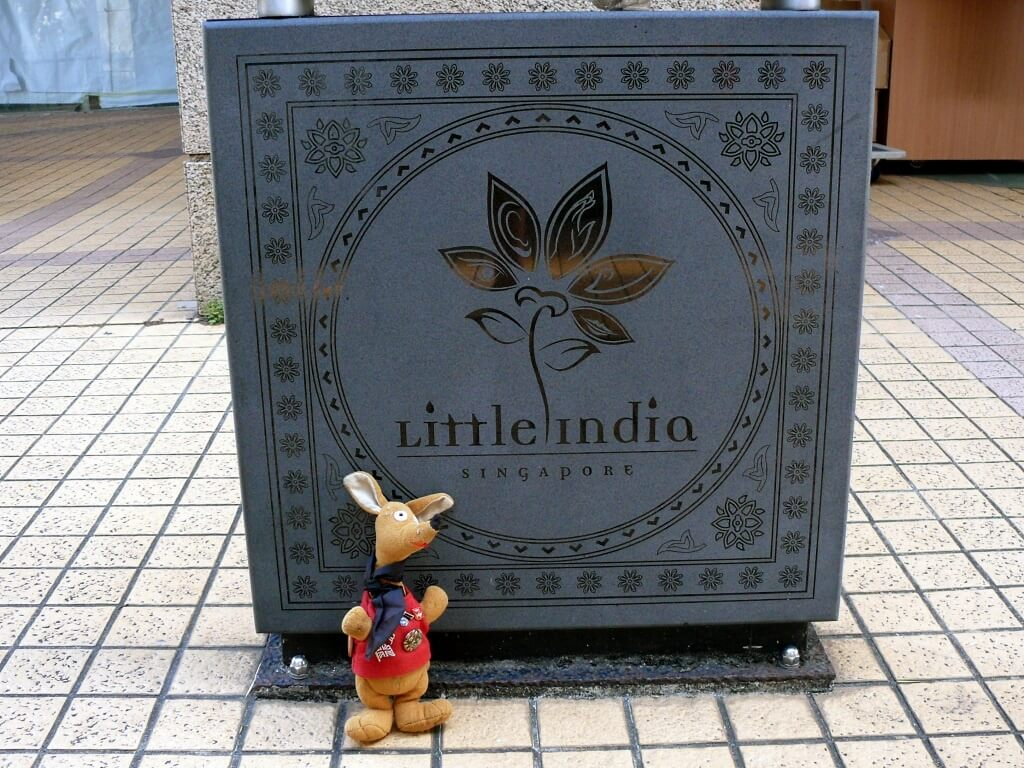 Ryjek w Little India Singapore
