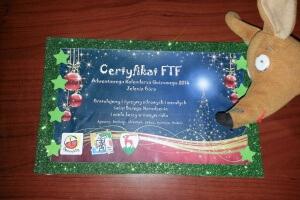 Ryjek i certyfikat FTF AKQ 2014 Jelenia Góra